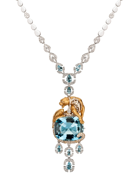 Magerit aquamarine Instinto drop necklace