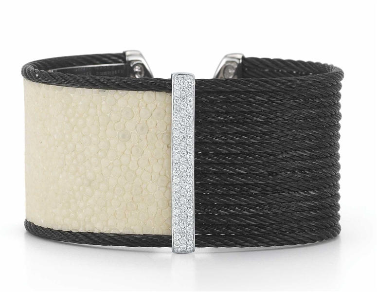 ALOR Noir cable and stingray bracelet