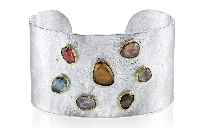 Denise James Jewelry Northern Light sapphire cuff bracelet