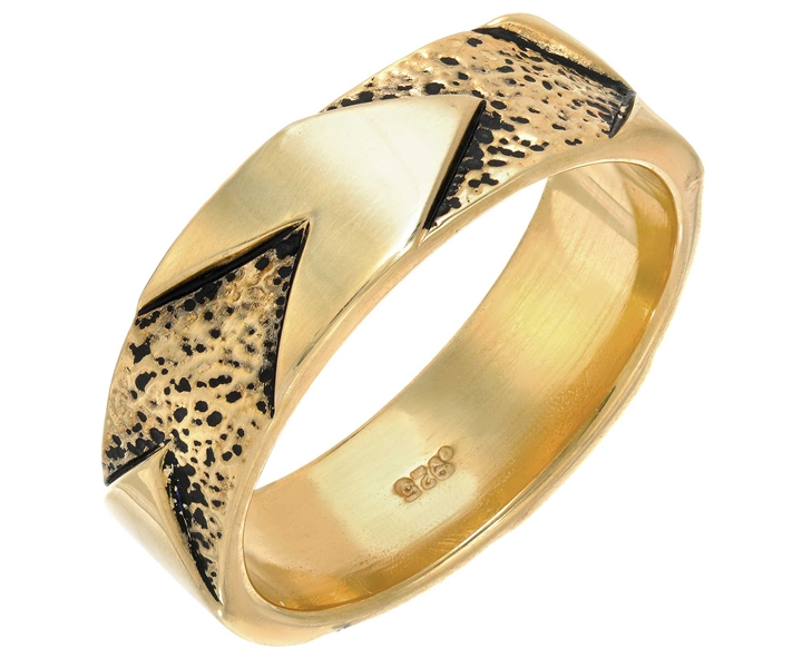 Kaura Jewels Strength chevron band