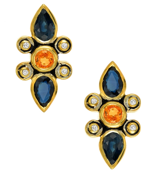 Kaura Jewels Balance sapphire earrings