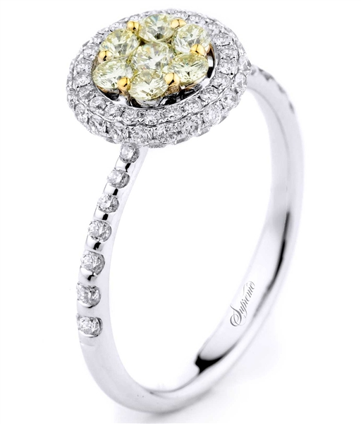 Supreme Jewelry yellow diamond cluster ring