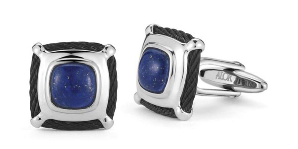 ALOR gentlemen's lapis cable cufflinks