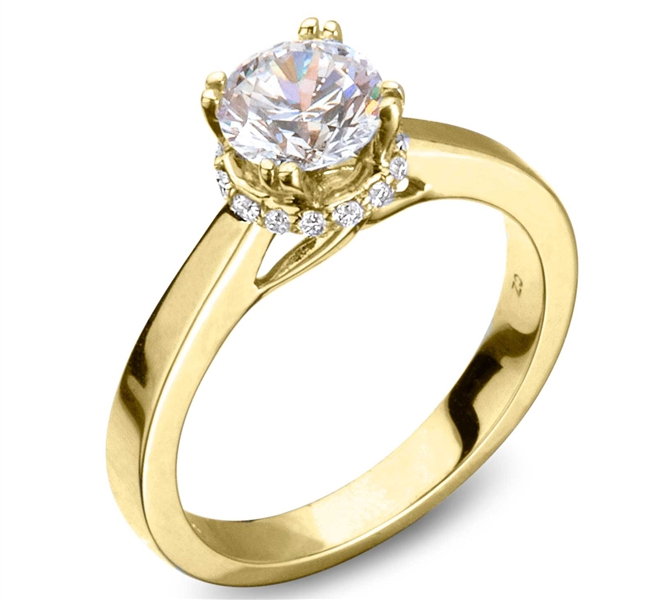 Eugene Biro sub halo diamond engagement ring