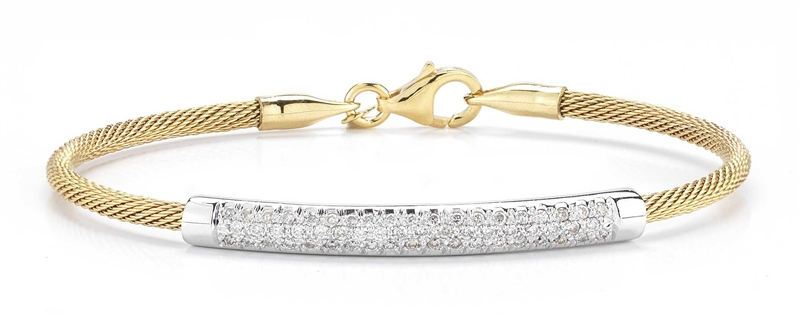 I. Reiss super-flex diamond bar bracelet