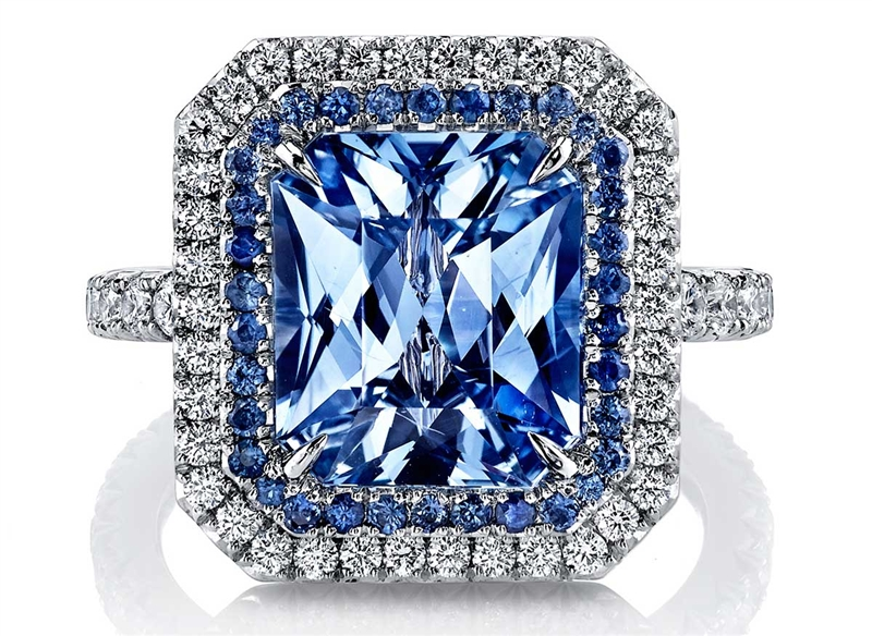 Omi Prive radiant sapphire ring