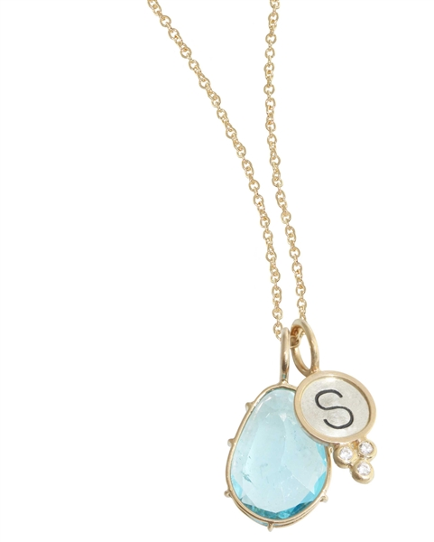 Heather Moore Harriet Stone initial pendant