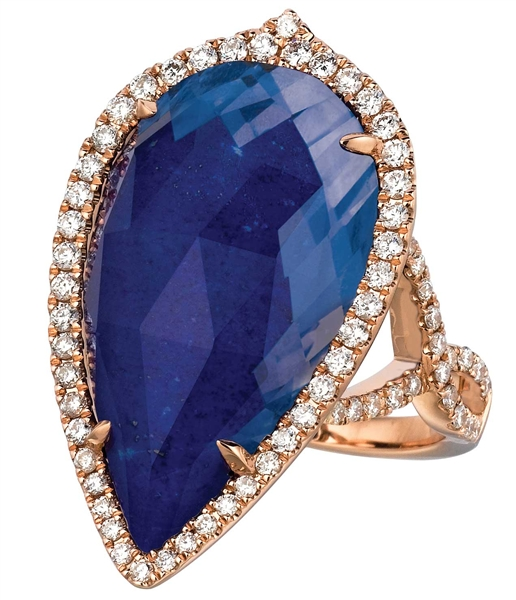 Doves by Doron Paloma Royal lapis cocktail ring
