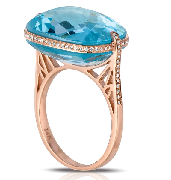 Marco Moore DeJulie MM blue topaz ring