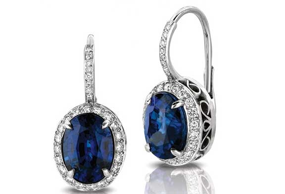 Martin Flyer platinum sapphire Entice earrings