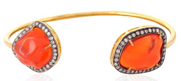 Gemco Designs fire opal floating bangle
