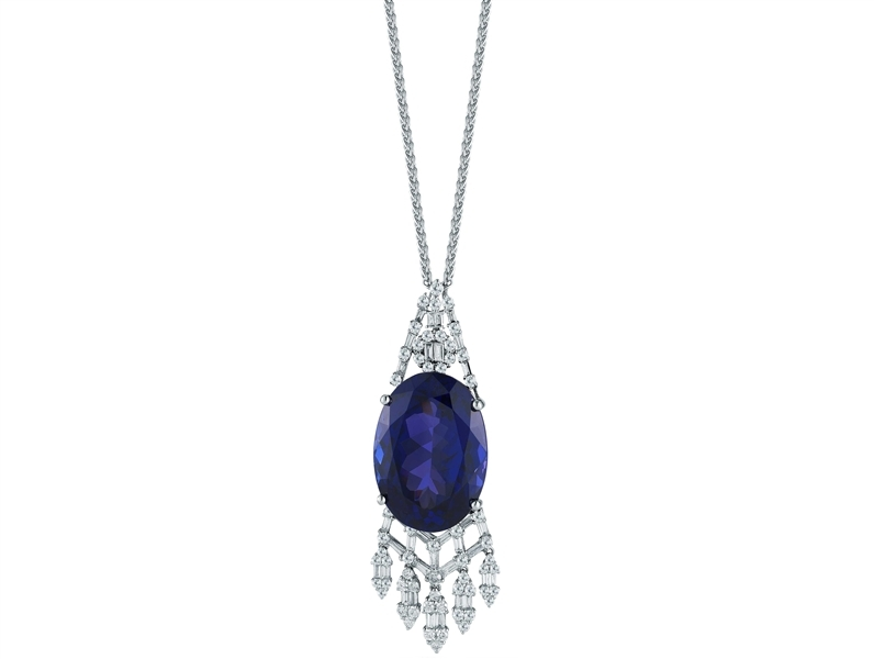 House of Tanzanite chandelier pendant