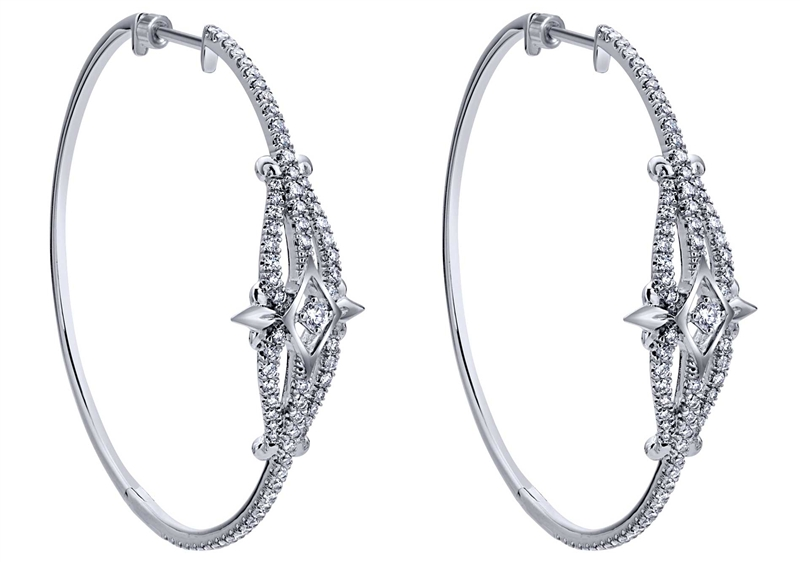 Gabriel and Co. Amavida diamond hoop earrings