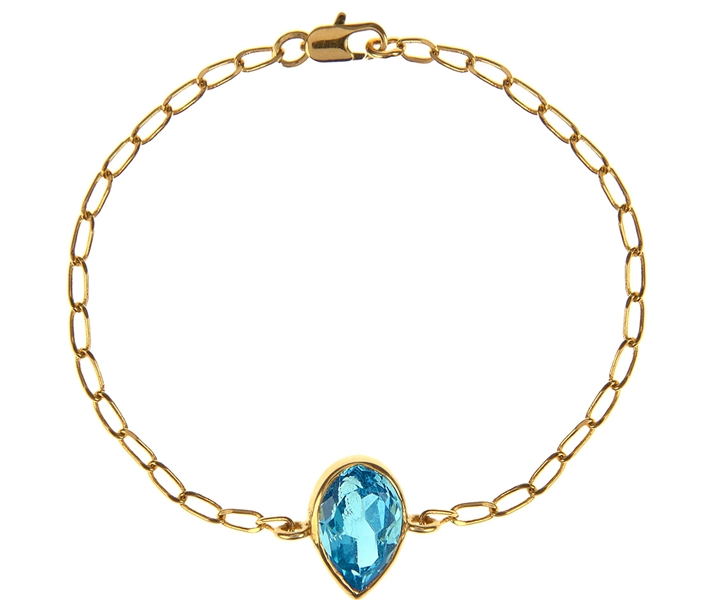 Alexandra Alberta blue topaz Hollywood bracelet