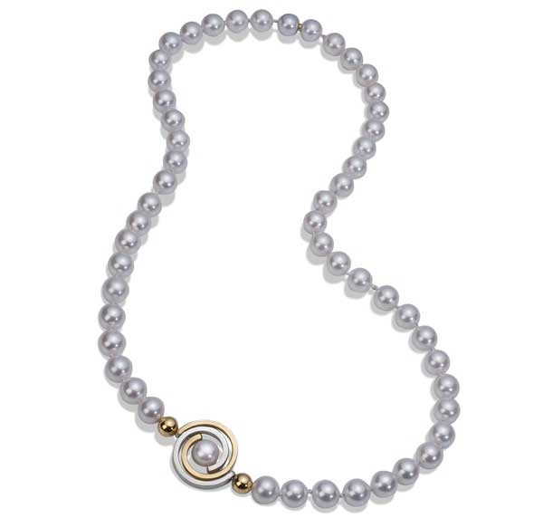 Martha Seely Akoya pearl strand necklace