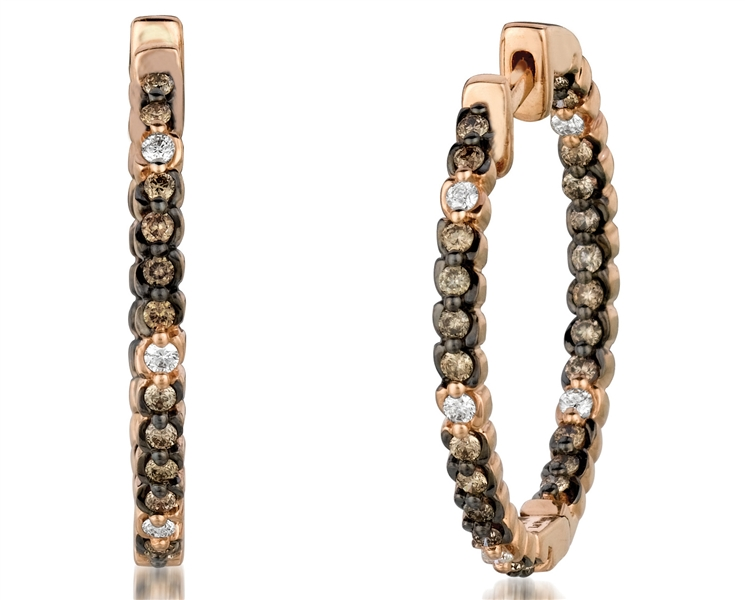 Le Vian Chocolate Diamonds hoop earrings