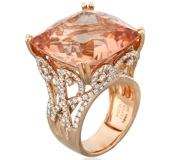 Yael Designs Princess morganite ring