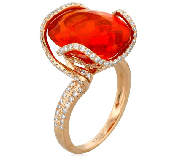 Yael Designs fire opal Surf ring