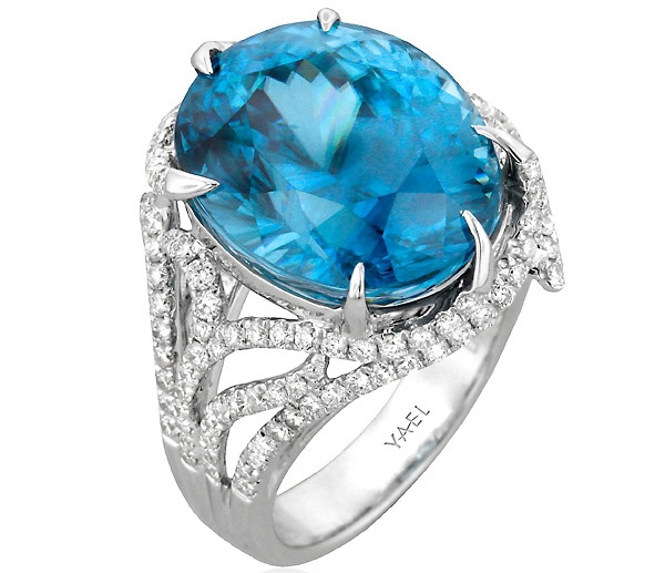 Yael Designs blue zircon Dragon ring