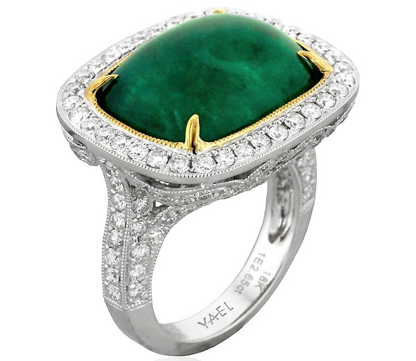 Yael Designs emerald cabochon ring