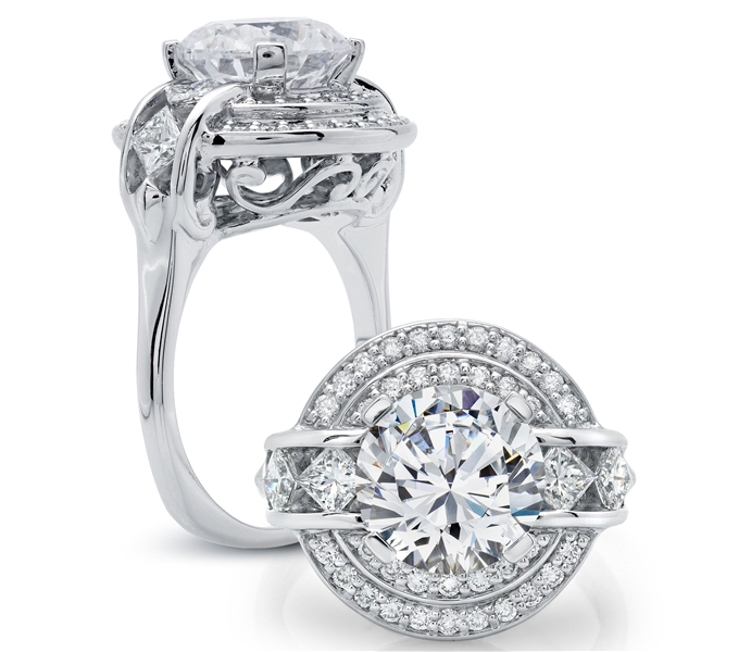 Peter Storm double halo diamond engagement ring