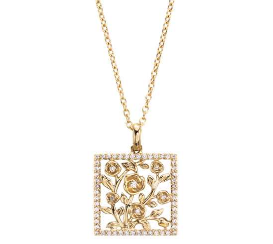 Jane Taylor Jewelry square flower pendant