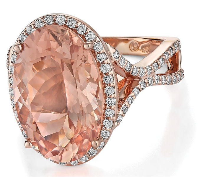 Makur morganite oval cocktail ring