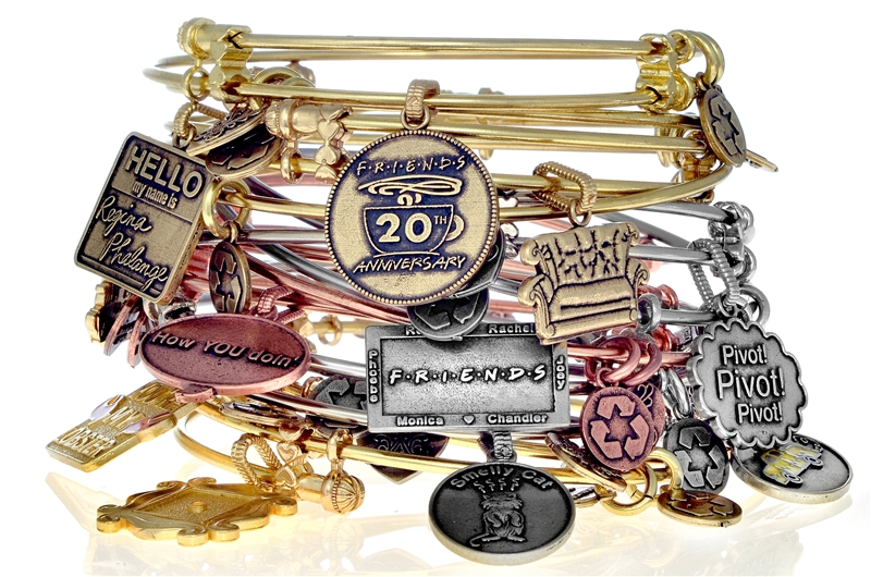 Angelica FRIENDS stacking charm bangles