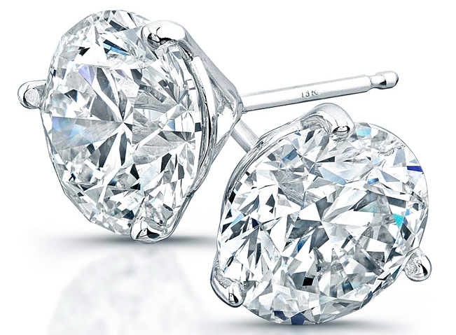 Rahaminov Diamonds diamond stud earrings