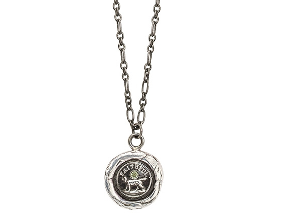 Pyrrah Faithful Friend talisman pendant with peridot