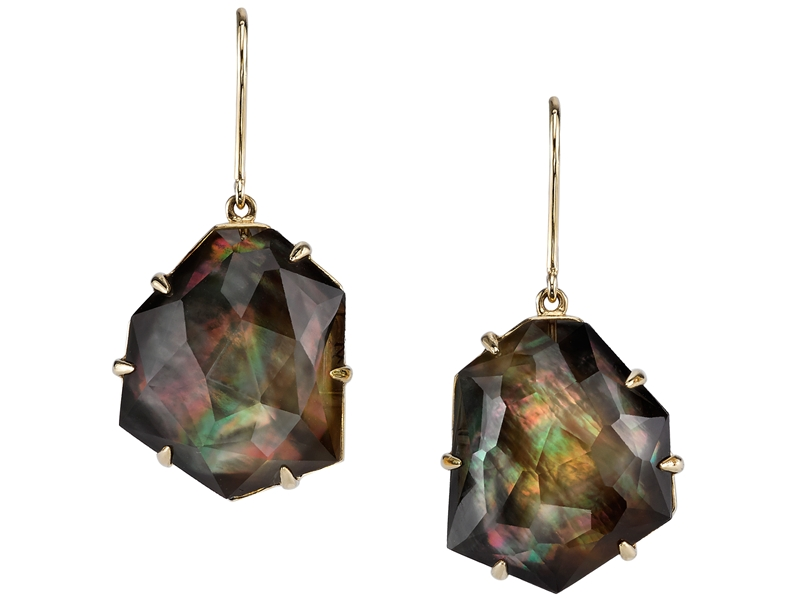 Ian Saude for Kaiser Gems six prong doublet drop earrings