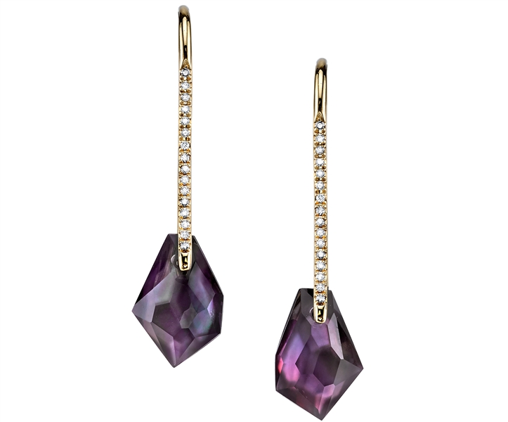 Ian Saude for Kaiser Gems Stern and Hook doublet earrings