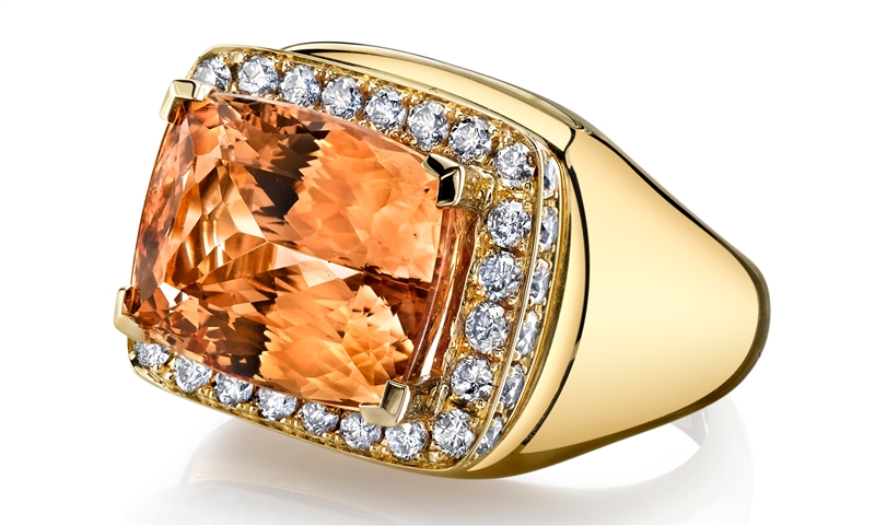 Ian Saude for Kaiser Gems precious topaz cocktail ring