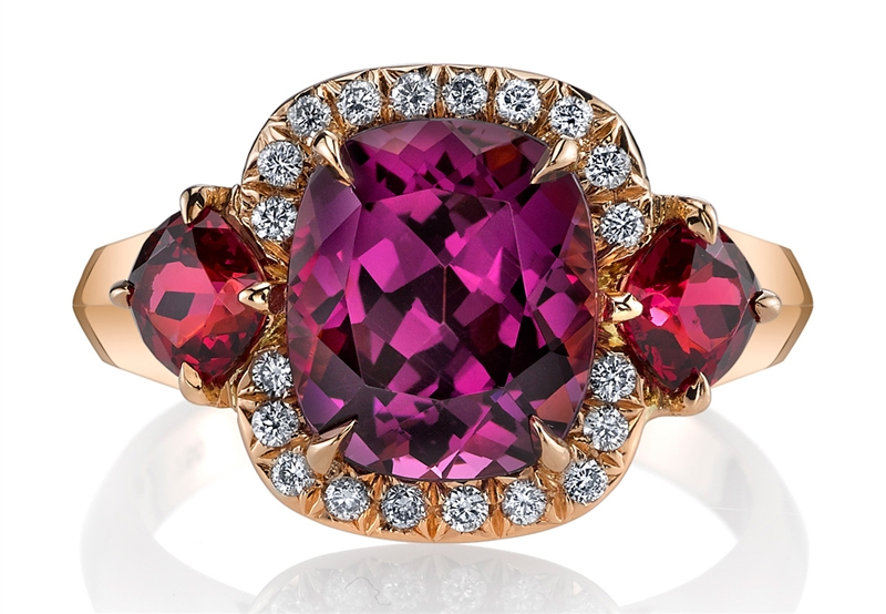 Omi Prive purple and red spinel ring