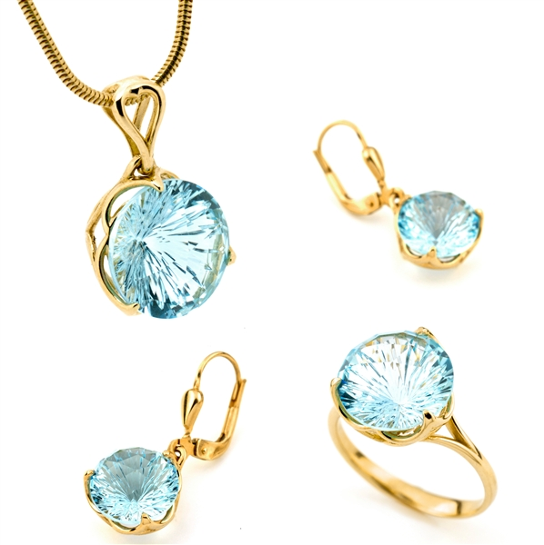 S&A Jewellery Design blue topaz suite