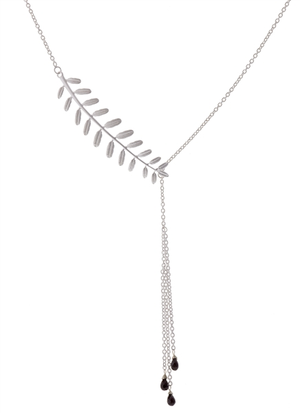Rebecca Hook Jewelry black spinel branch lavalier necklace