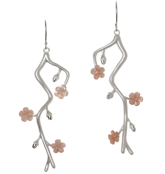 Rebecca Hook cherry blossom earrings