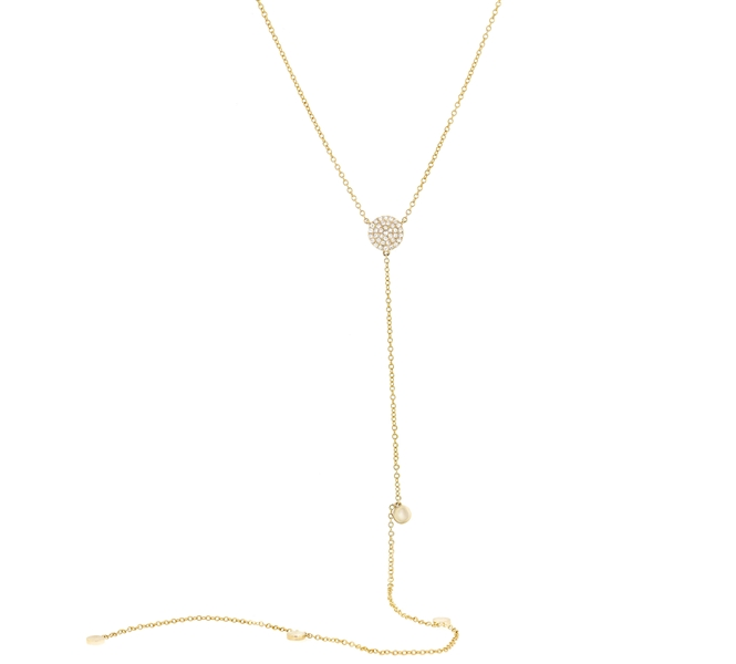 Shy Creation round diamond station lariat necklace