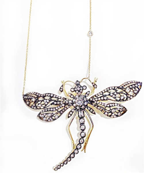 SHay one-of-a-kind diamond dragonfly pendant