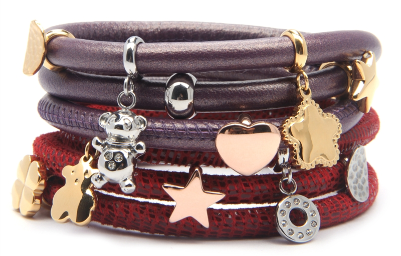 Stardom Vivi leather charm bracelets