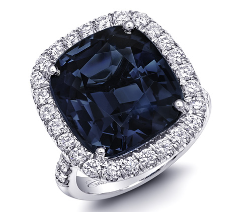 Coast Diamond blue spinel cocktail ring