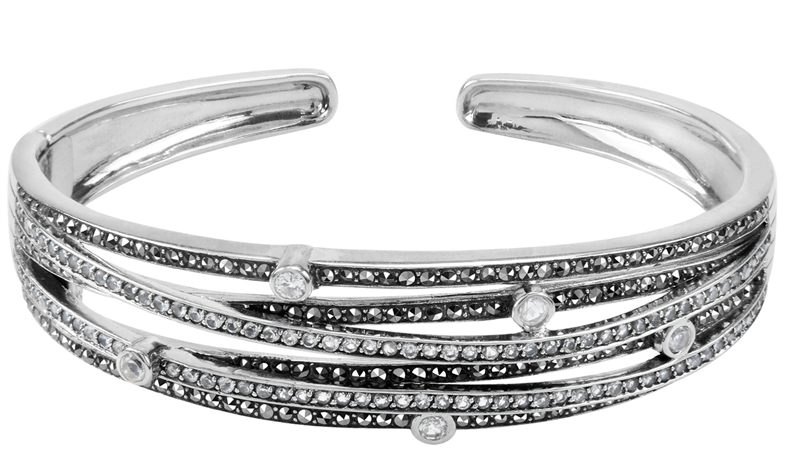 MARC white topaz and marcasite cuff bracelet