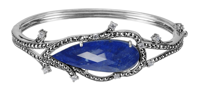 MARC crystal lapis doublet bangle bracelet