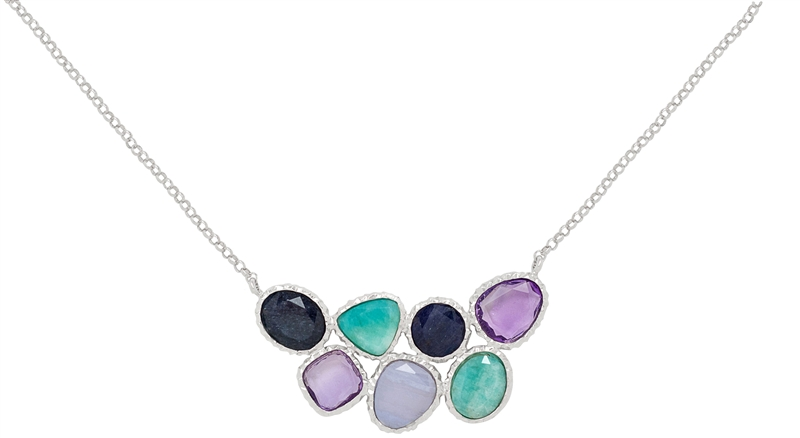 Frederic Duclos gemstone slab necklace