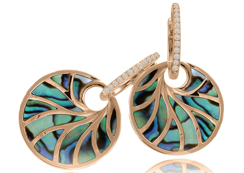 Frederic Sage Venus II abalone earrings