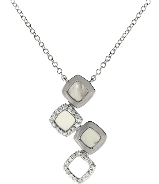 Sophia by Design mother-of-pearl squares pendant