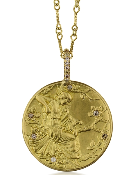Dorian and Rose Muse coin pendant
