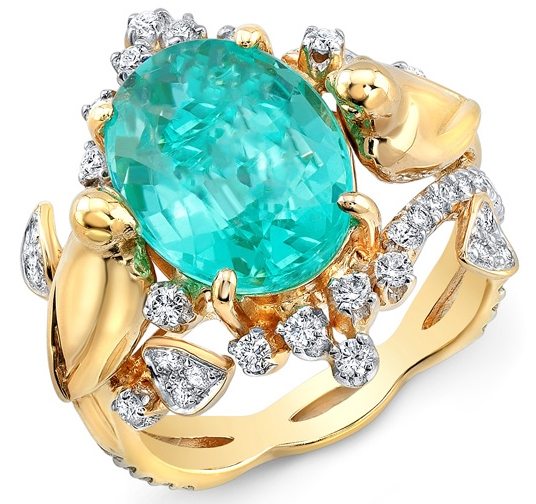 Loretta Castoro Love Doves paraiba ring