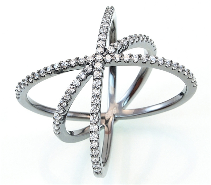 Radiance of Hope triple band orbit ring