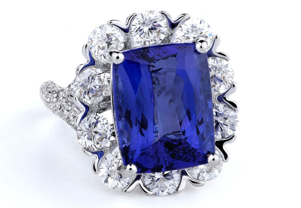 Supreme Jewelry tanzanite and diamond cocktail ring